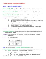 Lecture Notes on Discrete Random Variable