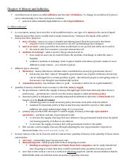 ECON 2000 - Chapter 4 Notes