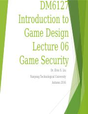 Lecture08 - Game Security.pptx