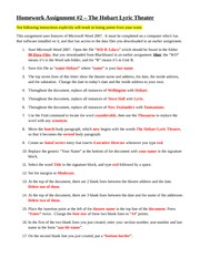 Hmwk2 - The Hobart Lyric Theatre instructions