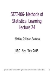 STAT406-15-lecture-24