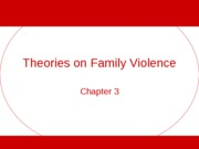 (3) Theories on Family Violence