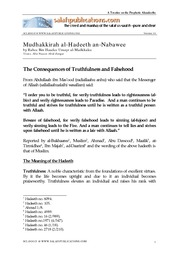 Mudhakkirah al-Hadeeth an-Nabawee of Shaykh Rabee- 15 - The Consequences of Truthfulness and Falseho