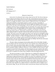 essay on honor