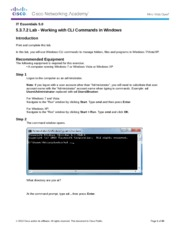 5.3.7.2 Lab - Working with CLI Commands in Windows