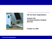 Session 14A - Technical Systems Part 2 Fall 2009 - Instructor