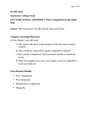 ECON 1023 Chapter 10 Notes