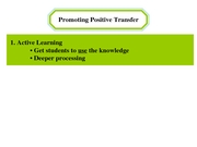 11 Promoting Tranfer of Learning