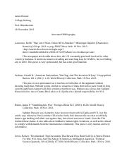 Research Paper- Iraq (Annotated Bibliography).docx