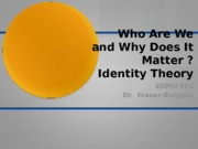 Identity Theory and Youth Identity