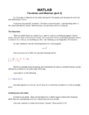 Matlab Guide Lecture 3.1