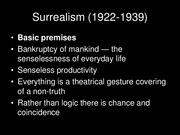 Lecture Slides 3 Surrealism