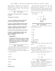 J. Oscillations and Waves Practice Problems-solutions