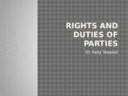 RIGHTS AND DUTIES