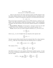 07 Optimality of OLS Estimators