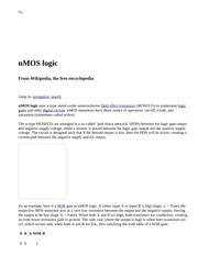 nMOS logic - Wikipedia, the free encyclopedia