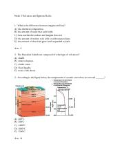Week 3 - Volcanoes and Igneous rocks questions.rtf