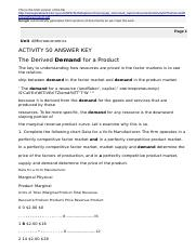ACTIVITY 50 ANSWER KEY The Derived Demand for a Product.html