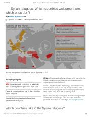 Syrian refugees_ Which countries welcome them - CNN.pdf
