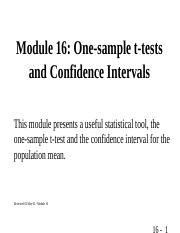 MODULE 16 One-sample t-test.ppt