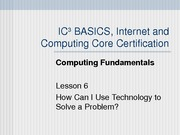 Computing Fundamentals Lesson 06