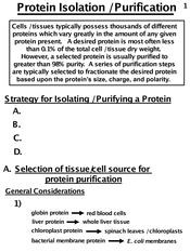 7. Protein Isolation:Purification and Analysis
