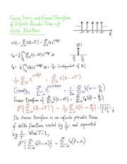 Fourier Series and Fourier Transform of a Infinite Periodic Train of Delta Functions