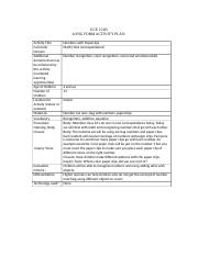 Long form activity plan blank 4 math