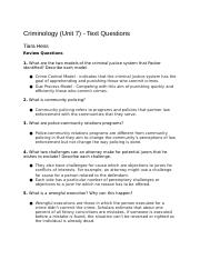 CriminologyUnit7-TextQuestions