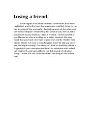 Losing a Friend..docx