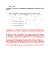 DQs Week 6 All Answered.docx