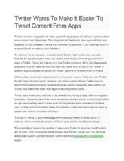 Twitter Wants To Make It Easier To Tweet Content From Apps22