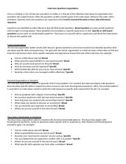 Interview Question Organization (1).docx