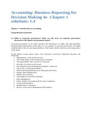 Accounting Business Reporting for Decision Making 4e- Chapter 1 Solutions 1.4