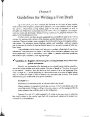 Writing the First Draft - Ch 9 Galvan