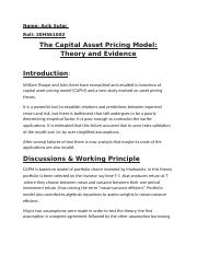 FM_Article#2_The Capital Asset Pricing Model.docx