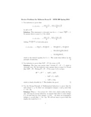 Midterm2(ReviewSolutions)