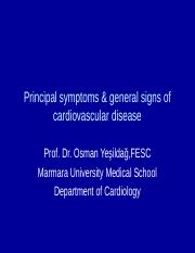 Principal symptoms and general signs yeni  D-III