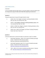 citation wksht personal resp apa reference and citation worksheet gen 200. Black Bedroom Furniture Sets. Home Design Ideas
