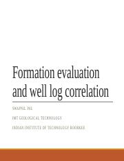 Formation Evaluation