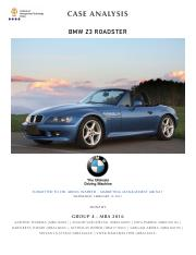 launching the bmw z3 roadster case study