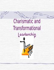 Ch 9 - Charismatic and Transformational Leadership-BB
