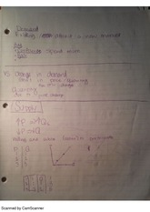Demand and Supply, class notes