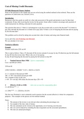 EFN406 Notes Cost of Missing Discount and Rights Issues 2015 1(1)