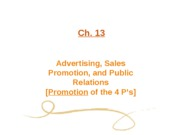 Ch. 13 Advertising, Sales Promotion, & Public Relations