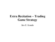 Trading Game Strategy