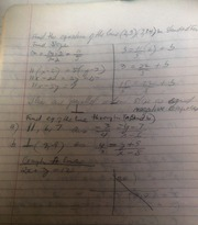 MATH 101 Notes on Equation of a line