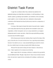 District Task Force