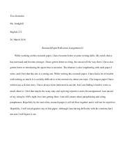 Research Paper Reflection Assignment #2.pdf