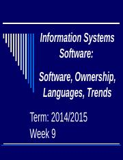 MIS_Week 9_Software Ownership_Languages_Trends